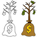 Sapling Money Tree Royalty Free Stock Photo