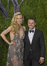 Sara mearns and joshua bergasse arrive at tony awards prominent ny city ballet dancer choreographer teacher nominee for besty Stock Photography