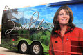 Sarah Palin's Book Tour Bus Stock Photo
