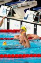 Sarah sjostrom barcelona july sweden in barcelona fina world swimming championships on july in barcelona spain Royalty Free Stock Images