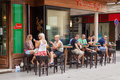 Sarajevo bosnia and herzegovina aug people enjoy drinks on august in b h is listed in national geographic best Stock Photos
