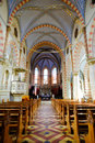 Sarajevo cathedral internal view of the of jesus heart in bosnia and herzegovina Royalty Free Stock Photography