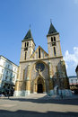 Sarajevo cathedral the of jesus heart in bosnia and herzegovina Royalty Free Stock Image