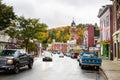 Saranac Lake, NY, on a Cloudy Fall DAy Royalty Free Stock Photo