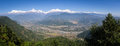 Sarangkot view to the annapurna himal from the viewpoint above pokhara nepal Stock Image
