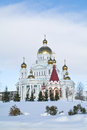 Saransk urban view orthodox cathedral of the holy soldier of fedor ushakov Royalty Free Stock Photo