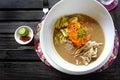 Sarawak Laksa - popular ethnic dish Royalty Free Stock Photo