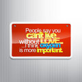 Sarcastic background people say you can t live without love i think oxygen is more important sign Royalty Free Stock Photos