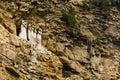 Sarcophagi on a mountain slope Royalty Free Stock Photo