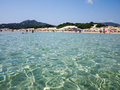 Sardegna sea baia chia on italy Royalty Free Stock Photography