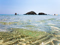 Sardegna sea baia chia on italy Royalty Free Stock Images