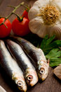Sardines - Ingredients Royalty Free Stock Images