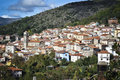 Sardinia aritzo small village in barbagia italy Royalty Free Stock Image