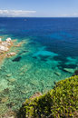 Sardinia bay of capo testa color water Royalty Free Stock Image