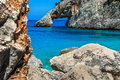 Sardinia cala goloritzè view of awesome coast and natural rock monument of goloritze near baunei city in ogliastra italy Stock Image