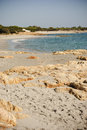 Sardinia deserted beach a at the end of october cala liberotto italy Stock Images