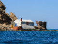 Sardinia gonnesa ancient fishmen s house in portupalla beach Royalty Free Stock Image