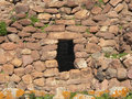 Sardinia gonnesa nuraghe seruci detail of a wall of the keep in the nuragic village of in southern Stock Photos