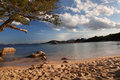 Sardinia island with beautiful beaches in italy costa smeralda amazing beach capriccioli Stock Image