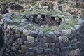 Sardinia nuraghe view esterior of complex of barumini Stock Images