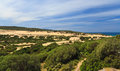 Sardinia piscinas dune in costa verde southwest italy Stock Photos