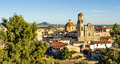 Sardinia sanluri panorama of city campidano italy Stock Images