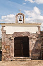 Sardinia villaperuccio is grazias rural church of the virgen of Royalty Free Stock Photography