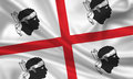 Sardinia waving flag of island itlay Royalty Free Stock Images