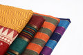 Sari fabric colorful indian asian Stock Photography