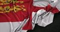 Sark Flag Wrinkled On Dark Background 3D Render