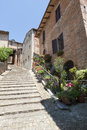 Sarnano (Marches, Italy) - Old village Royalty Free Stock Image