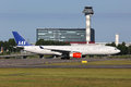 Sas scandinavian airlines airbus a stockholm arlanda sweden june an with the registration ln rko taxis at stockholm arlanda Stock Photos