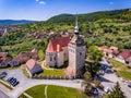 Saschiz Saxon Village in old rural Transylvania Romania