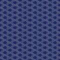 Sashiko. Abstract seamless texture. Kimono pattern Royalty Free Stock Photo