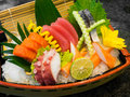 Sashimi on the boat fresh Stock Image