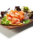Sashimi di color salmone Immagine Stock