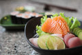 Sashimi mix in close up Royalty Free Stock Photos