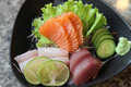 Sashimi mix in close up Stock Images