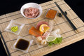 Sashimi table appointments  Royalty Free Stock Image