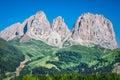 Sass pordoi south face m in gruppo del sella dolomites m mountains alps Royalty Free Stock Photo