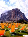 Sasslong italy in summer south tyrol dolomites Stock Images