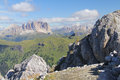 Sassolungo group landscape with from costabella fassa valley dolomites trentino italy Royalty Free Stock Photography