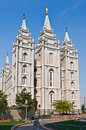 Sat Lake City Temple on Temple square Royalty Free Stock Photo