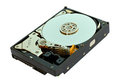 SATA hard disk drive isolated Stock Photo