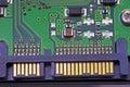 Sata harddisk connector Royalty Free Stock Photos