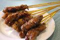 Satay skewers Royalty Free Stock Photography