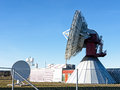 Satelite dish modern radio telescope Stock Photography