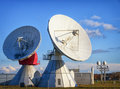 Satelite dish radio telescope group of modern dishes telescopes Stock Photography