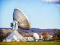 Satelite dish radio telescope group of modern dishes telescopes Stock Photos