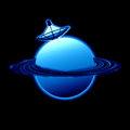 Satellite blue Planet Royalty Free Stock Photos